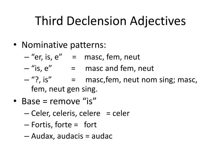 Third Declension Adjectives
