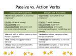 passive vs action verbs
