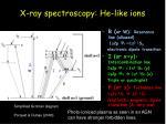 x ray spectroscopy he like ions