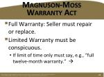 magnuson moss warranty act1