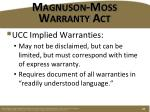 magnuson moss warranty act2