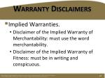 warranty disclaimers2