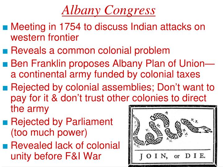 why was the albany plan of union rejected