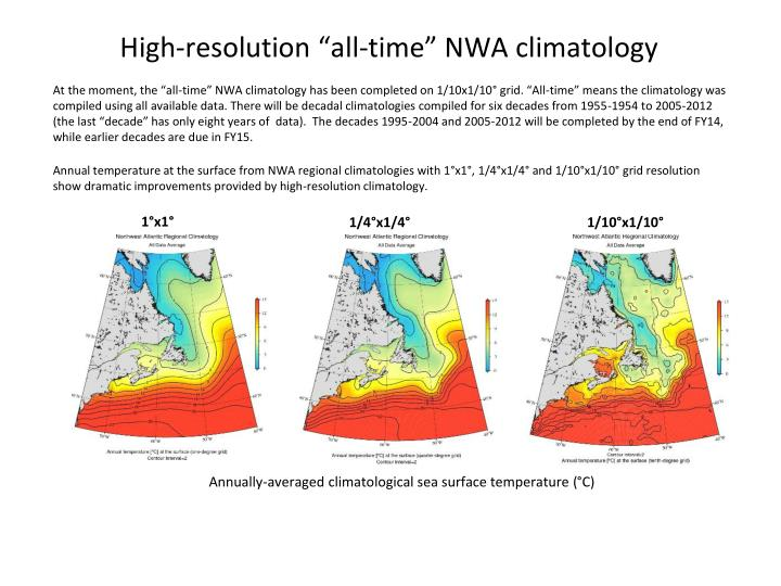 """High-resolution """"all-time"""" NWA climatology"""