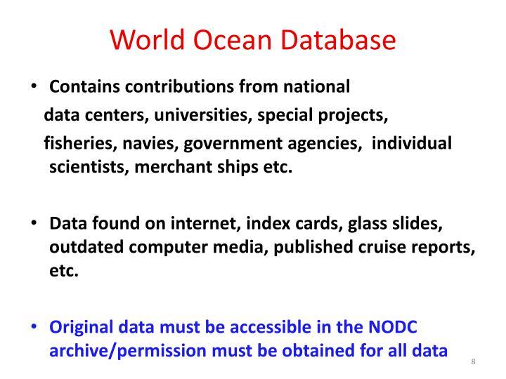 World Ocean Database