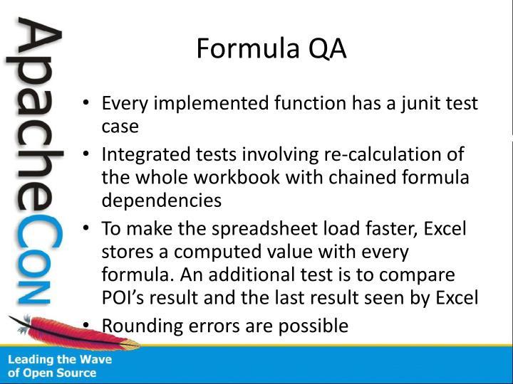 Formula QA