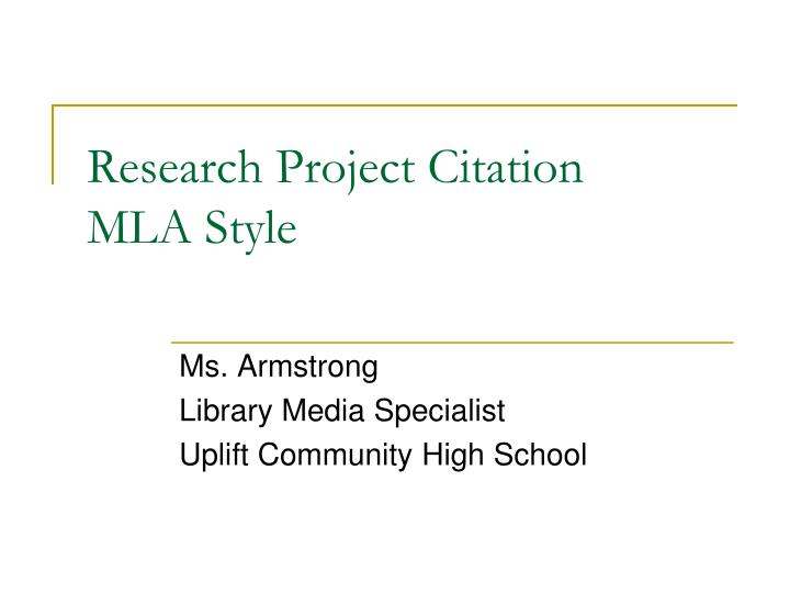 research project citation mla style n.