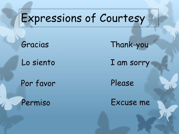 Expressions of Courtesy
