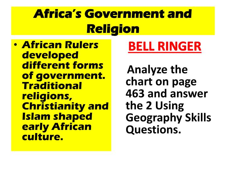 africa s government and religion n.
