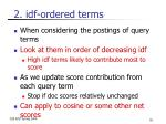 2 idf ordered terms