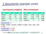3 documents example contd