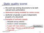 static quality scores