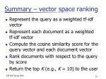 summary vector space ranking