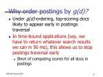 why order postings by g d