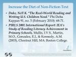 increase the diet of non fiction text