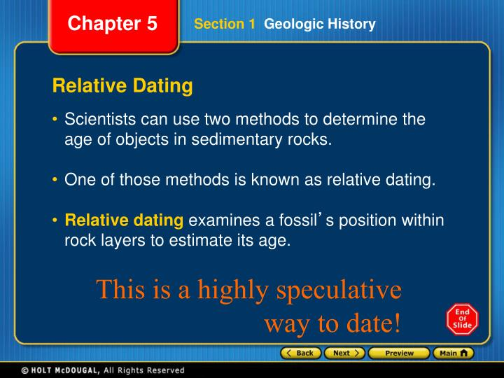 how scientists use relative dating