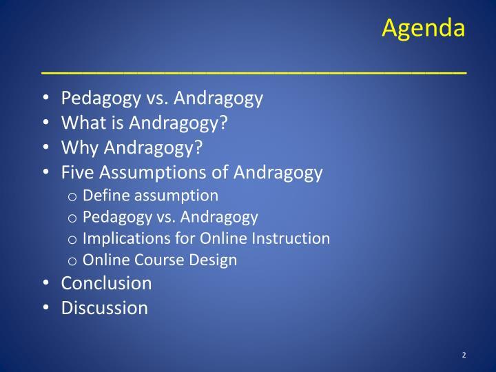 define andragogy and pedagogy