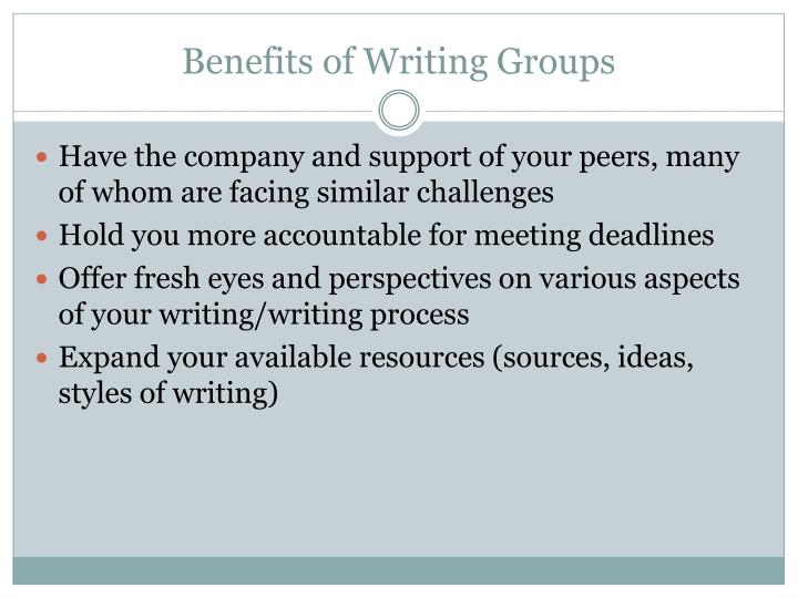 Benefits of Writing Groups