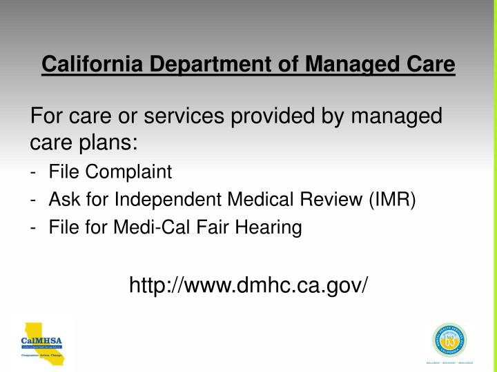 California Department of Managed Care