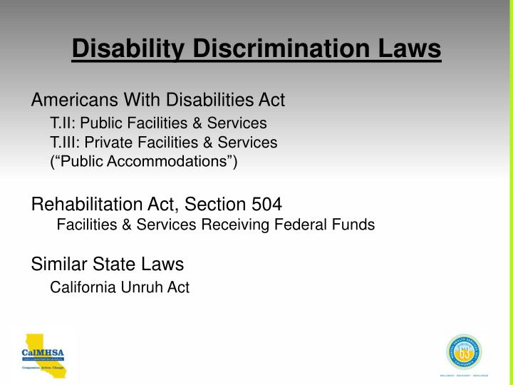 Disability Discrimination Laws