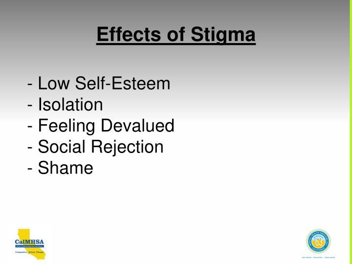 Effects of Stigma