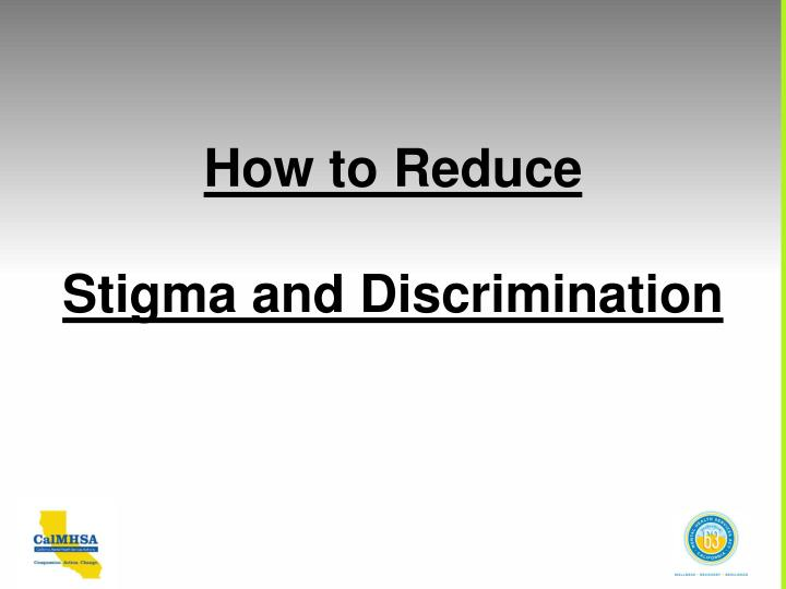 How to Reduce