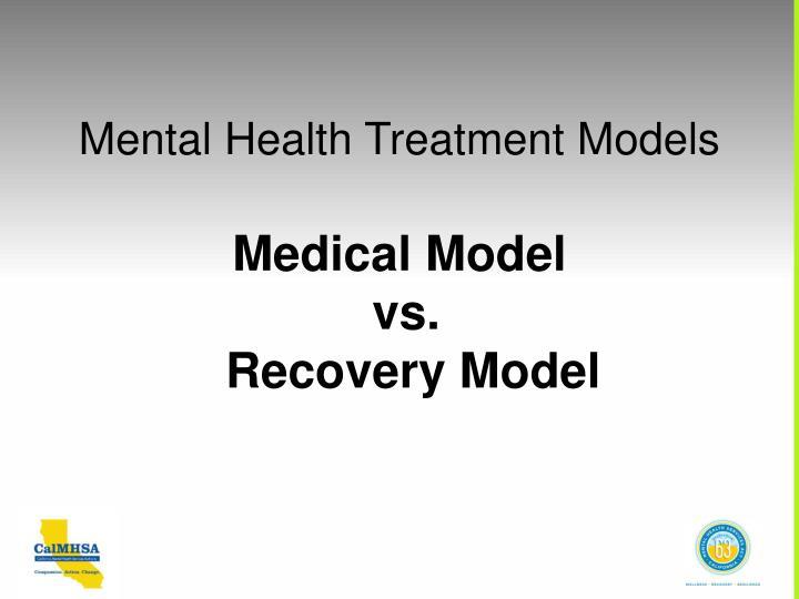 Mental Health Treatment Models