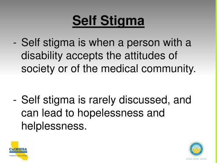 Self Stigma