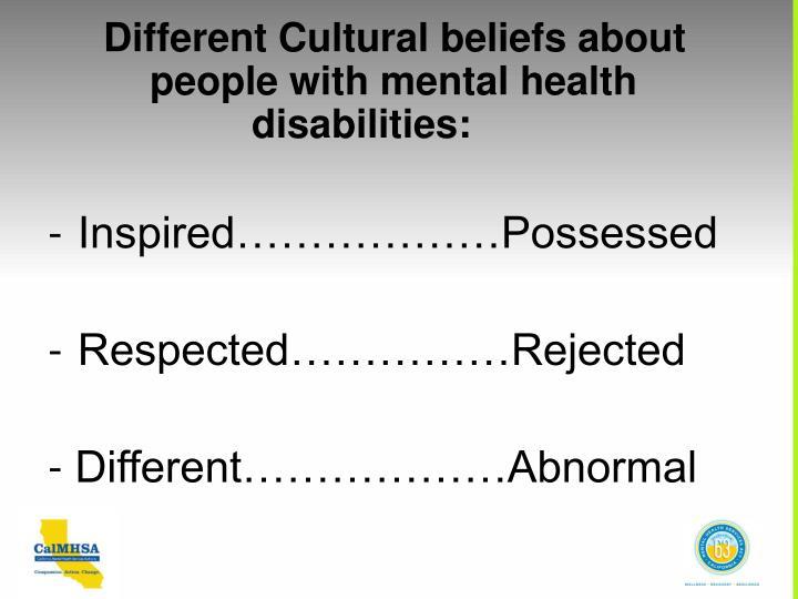 Different Cultural