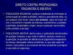 direito contra propaganda enganosa e abusiva