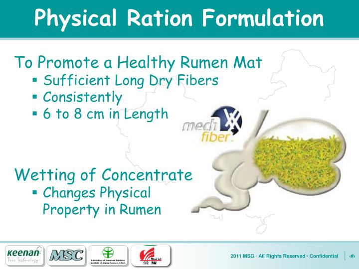 Physical Ration Formulation