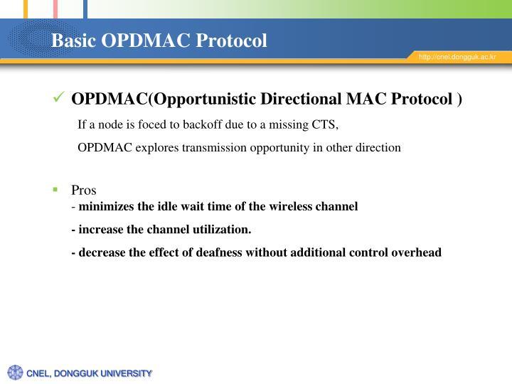 Basic OPDMAC Protocol