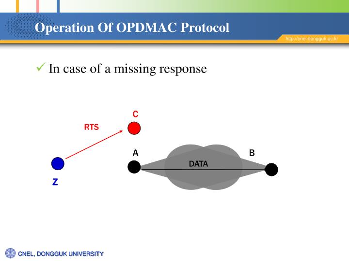 Operation Of OPDMAC Protocol