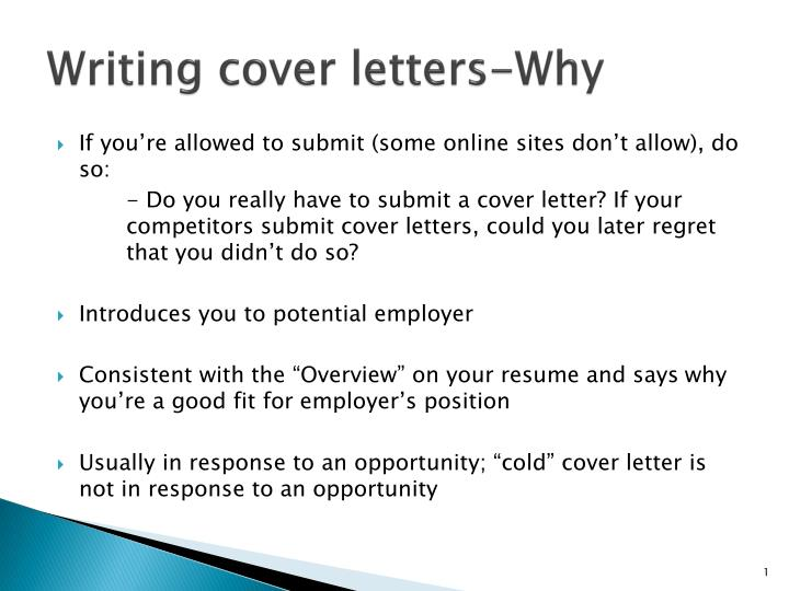 Not Submitting A Cover Letter from image1.slideserve.com