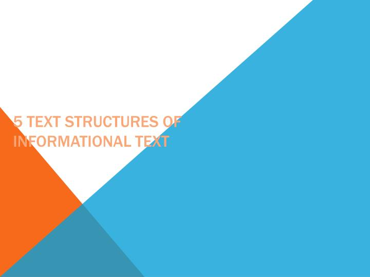 5 text structures of informational text