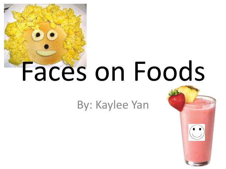faces on foods n.