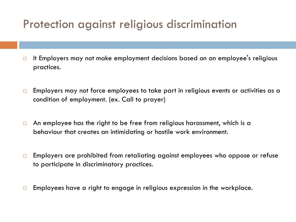 PPT - Discrimination in the Workplace PowerPoint