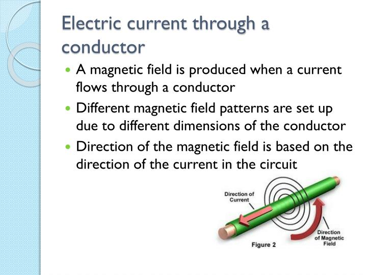 Electric current through a conductor