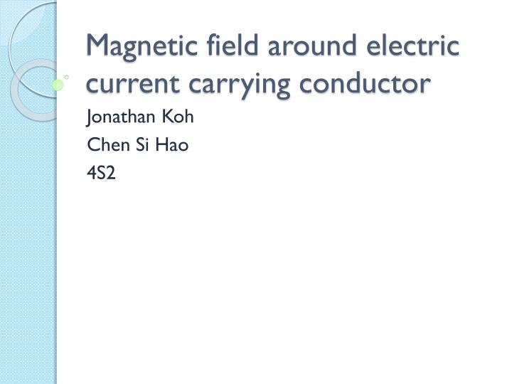 Magnetic field around electric current carrying conductor