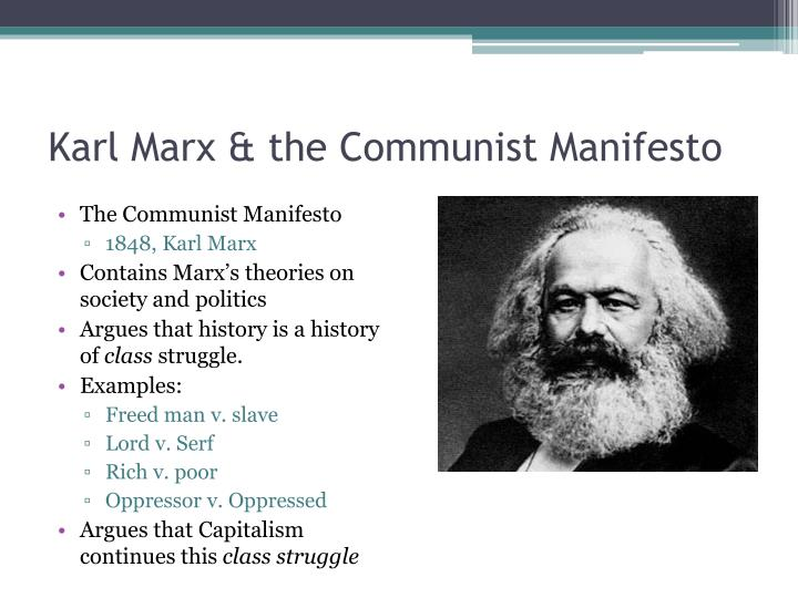 an analysis of the 1848 communist manifesto Karl marx and friedrich engels published the manifesto of the communist party in 1848 by no means did marx and engels set out to read the fortune of future capitalist societies, or to develop some high-resolution photograph of future international political economy amongst states.