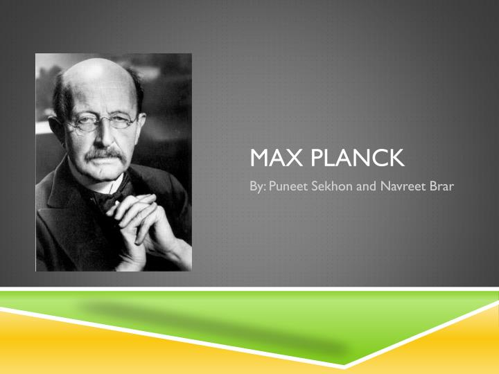 an introduction to the biography of max planck