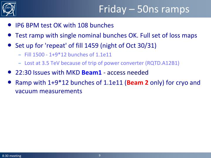Friday – 50ns ramps