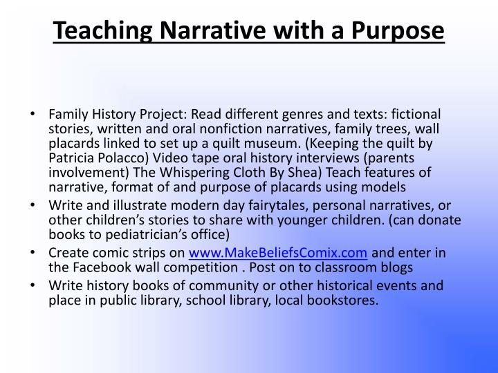 Teaching Narrative with a Purpose