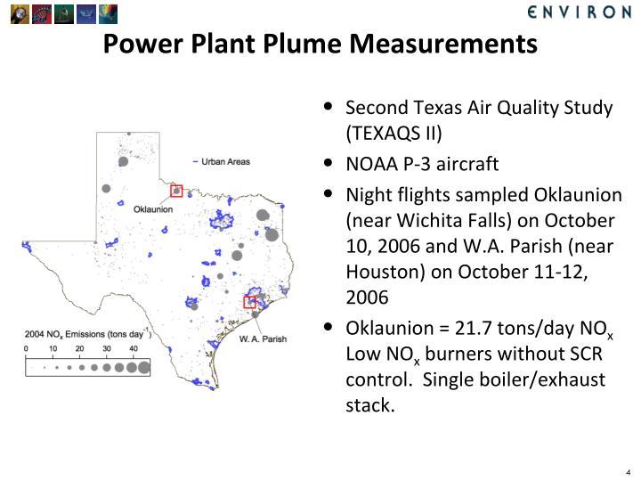 Power Plant Plume Measurements