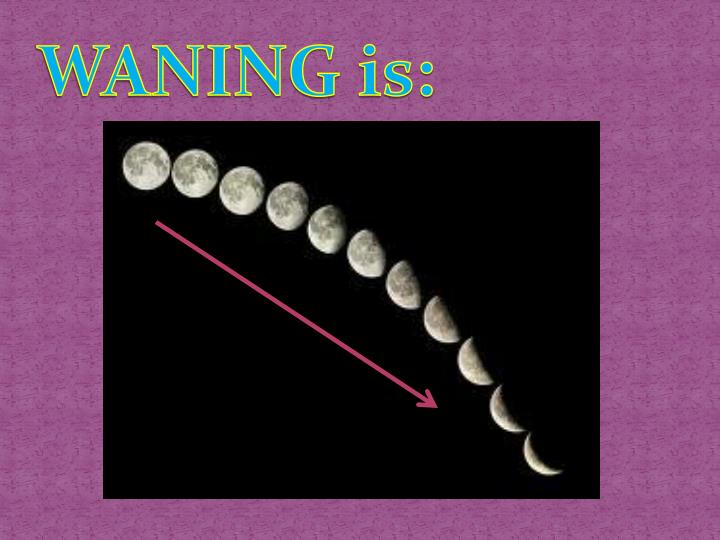 WANING is: