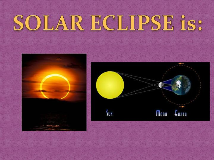 SOLAR ECLIPSE is:
