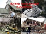 buildings heavily damaged in christchurch