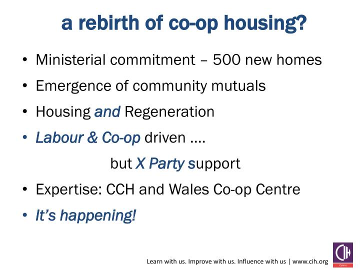 a rebirth of co-op housing?