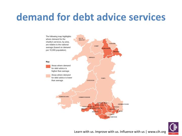 demand for debt advice services