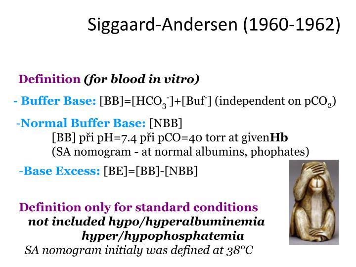 Siggaard-Andersen (1960-1962)